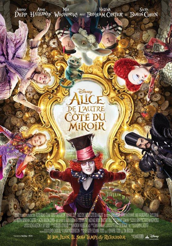 Découvre l'affiche d'Alice de l'autre côté du miroir
