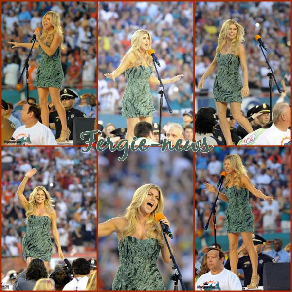 Fergie chante l'hymne am�ricain de d�part dans la NFL