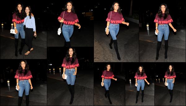 - 14.09.16 -  La belle Shay Mitchell est aperçue alors qu'elle arrivait au concert de Beyonce dans - Los Angeles. C'est donc le retour de notre Shay dans les rues de la Californie après son séjour en Italie. Je n'aime pas trop la tenue qu'elle porte par contre. Petit flop.  -