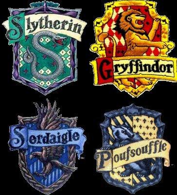 Les Quatre Maisons de Poudlard ... ♥