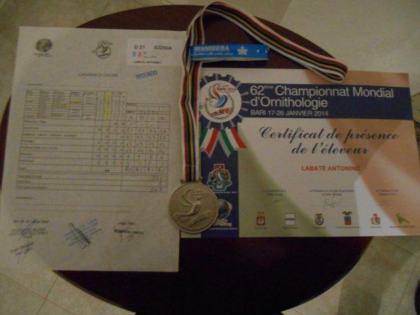 Mondiale Bari 2014 2° class. Stamm Avorio Brinati