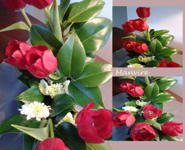 La semaine s'annonce difficile....ces tulipes rouges vous réchaufferont-elles ?
