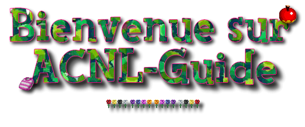 Bienvenue sur ACNL-Guide
