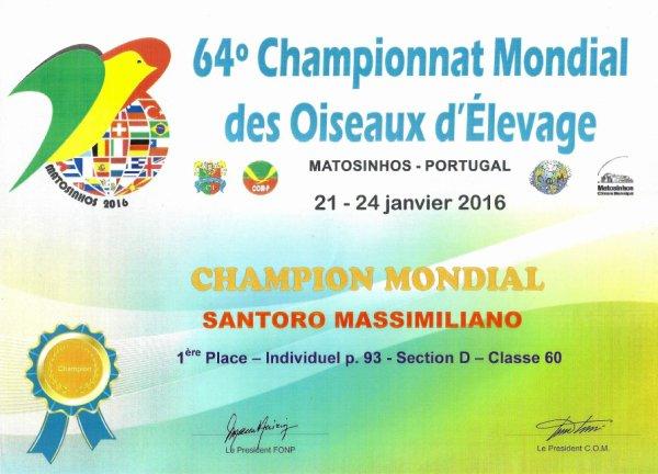 CAMPIONATO MONDIALE - MATOSINHOS 2016