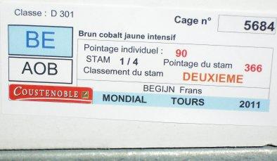 Sfeerbeeld 59ste C.O.M. Wereldshow te Tours (Frankrijk) januari 2011