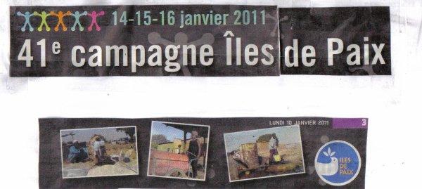 Saisaider les iles de paix les 14 15 et 16 jancier 20011