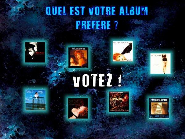 Elisez votre album pr�f�r� ! Votez !