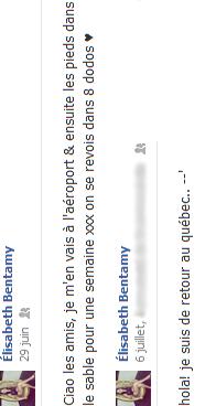"""11 / 07 / 12 : Voici quelques photos rapportant les vacances au soleil d' Elisabeth à Cuba, où notre québécoise adorée parait ne nous faire que des TOP. Aussi, des photos de notre chère Lisa avec son demi-frère, Loup. ( Désolée, j'ai fais une erreur sur le gif avec """"et"""" et """"&"""" mais bon.. ) Il semblerait que la prochaine cover réunissant Eli et Lisa soit la célèbre chanson Payphone de Maroon 5 et Wiz Khalifa, on attend ça avec impatience. Ainsi que Wide Awake interprétée par Lisa, seule. Je vous propose également de voir, ou revoir, la première prestation des filles à Secondaire en Spectacle mais aussi la troisième prestation pour le gala de leur école en exclusivité. ( La seconde prestation ne se trouvant nulle part sur Internet. )"""