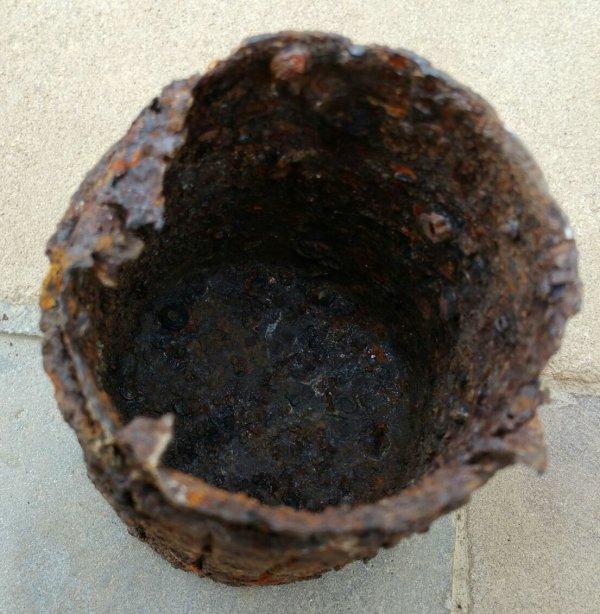 Chemise � fragmentation  de grenade � manche WW2.( don de mon ami Yann Marchal )