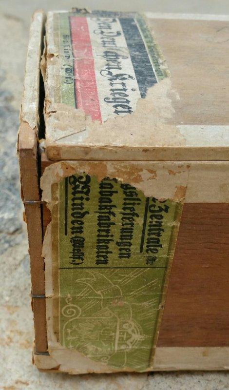 Bo�te de cigare Allemande WW1.( sortie de vide grenier )