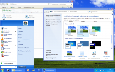 Astuce Windows 7  Thème Luna Windows XP pour Windows 7