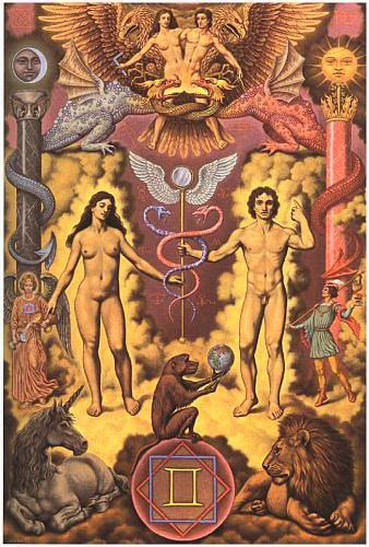 Gémeaux (Gemini), du 21 mai au 21 juin « C'est la fluidité, la liberté jusqu'à l'indiscipline, la vitalité jusqu'à l'exubérance, la disponibilité jusqu'à la dispersion. »