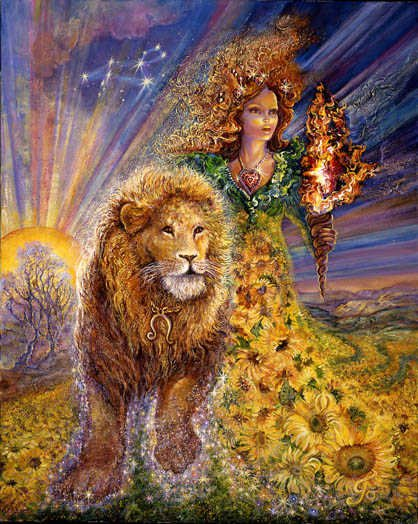 Lion (Leo), du 23 juillet au 22 août « C'est l'incandescence, le dynamisme jusqu'à l'autoritarisme; l'amour jusqu'à la passion, la conquête jusqu'à la domination. »