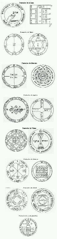 Pentacles; talismans Planétaires