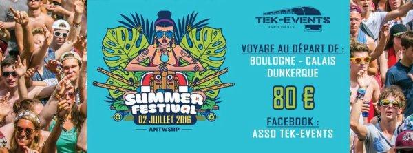 Bus pour Summerfestival - samedi 02 juillet 2016