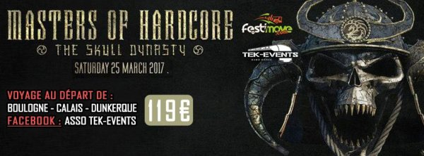 Bus pour Masters Of Hardcore - 25 mars 2017 !!