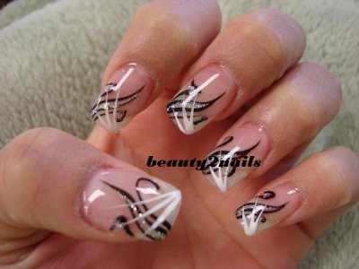 french deco lign noir et balnc melange de strass argent blog de beauty2nails. Black Bedroom Furniture Sets. Home Design Ideas