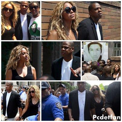 Beyonc� & Jay-z manifeste en hommage � Trayvon Martin