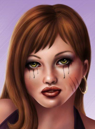 اعيش طيفاً من دموع .