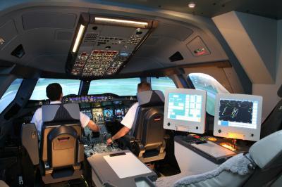 simulateur d 39 airbus a380 pilote de ligne les. Black Bedroom Furniture Sets. Home Design Ideas