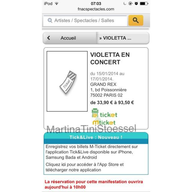 Achetez vos places pour Violetta en concert chez FNAC billetterie et sur Disney Store !