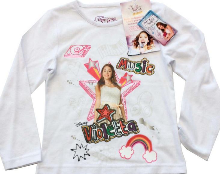Nouveaux t-shirts � Violetta � qui risquent de se vendre en France pour environ 8 � !