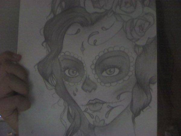 Articles de cartoonistandgoth tagg s dessin t te de mort mexicaine dessins d 39 une gothique - Dessin tete de mort mexicaine ...