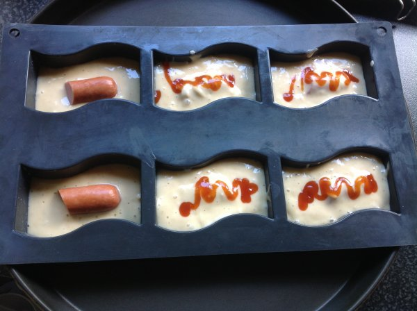 Mini cakes fa�on hot dog pour l'ap�ro