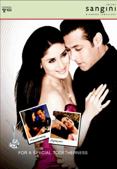 Kareena Kapoor et Salman Khan pour Sangini Diamond Jewellery