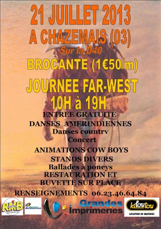 Notre affiche pour la journ�e Far-West et Brocante