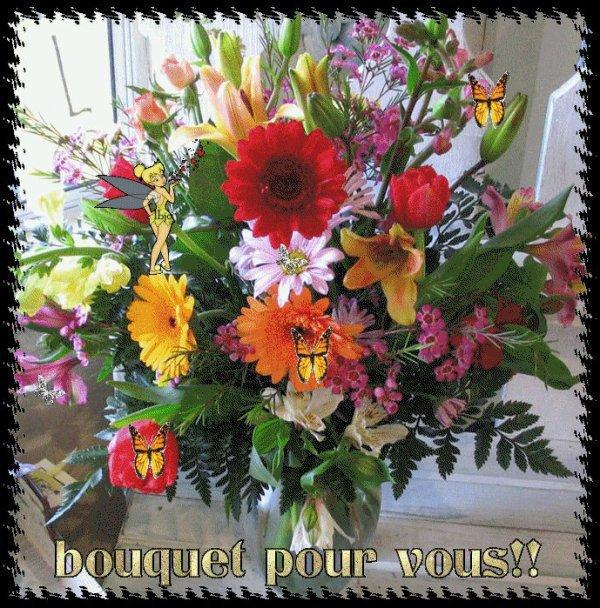 Cadeau recu par mon amie christine merci tres beau ce for Beau bouquet de fleurs