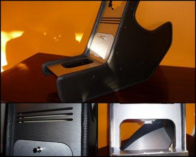 la console centrale mini en aluminium bross. Black Bedroom Furniture Sets. Home Design Ideas