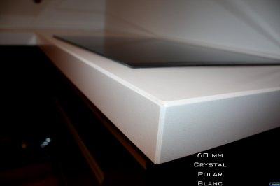 bords de plan de travail crystal polar white granitset. Black Bedroom Furniture Sets. Home Design Ideas