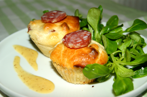 Muffins au saucisson sec une petite entr e simple mais for Petite entree simple