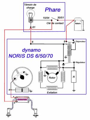 fonctionnement de la dynamo noris avec le r gulateur bosh 1 ma zundapp ks 600. Black Bedroom Furniture Sets. Home Design Ideas
