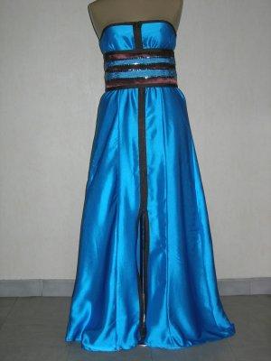 Robe bleu turquoise et marron chocolat soniacaftan for Bleu turquoise et marron