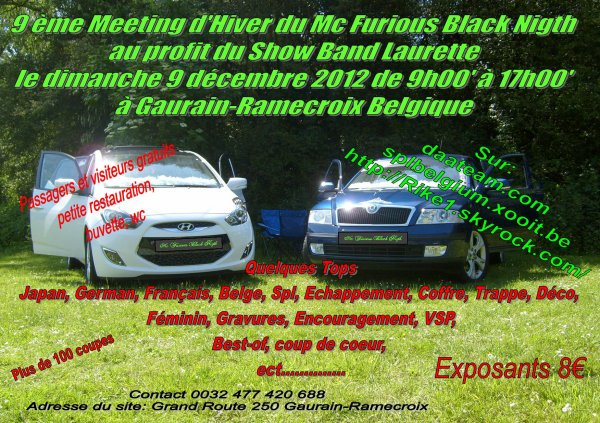 Le 9 d�cembre 2012 --  9�me Meeting d'Hiver du Mc Furious Black Nigth au profit du Show Band Laurette