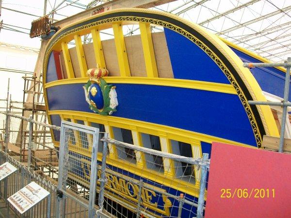 L 39 hermione en construction rochefort sur mer 17 image for Rochefort construction