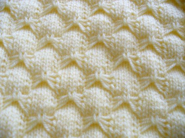 Comment tricoter le point papillon - Point de sable tricot ...