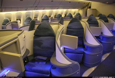 Air canada star alliance boeing 777 interieur business for Interieur 777 air france