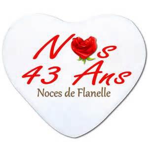 NOCES DE 43 ANS DE MARIAGE