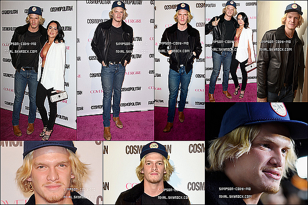 12/10/15 ♦ Cody Simpson �tait � la soir�e des 50 ans du magazine Cosmopolitan � West Hollywood.