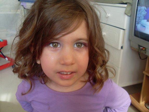 coiffure pour petite fille avec boucles