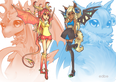 "Resultat concours de dessin : "" Kora�l & Chimaera """