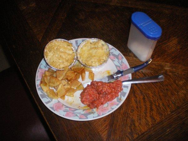 Mon repas de ce soir du 5 d�cembre 2012!
