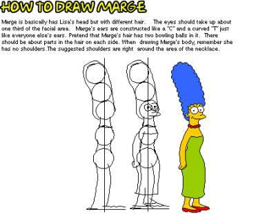 Dessiner marge the simpsons - Comment dessiner les simpsons ...