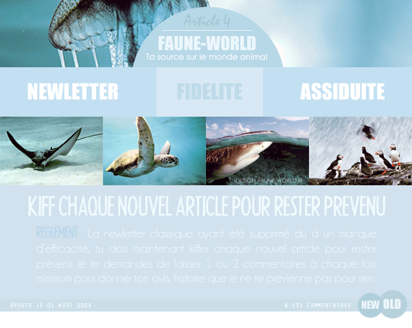 _______� �ARTICLE N�2 :�NEWLETTER_______ � Post� le 01 Ao�t 2009 � Faune-world.skyblog.com