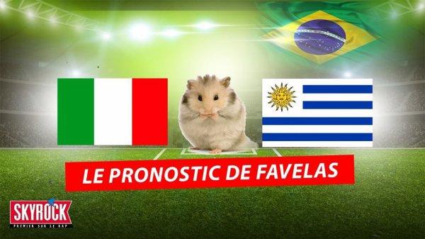 Italie / Uruguay: Le nouveau pronostic de Favelas le hamster !