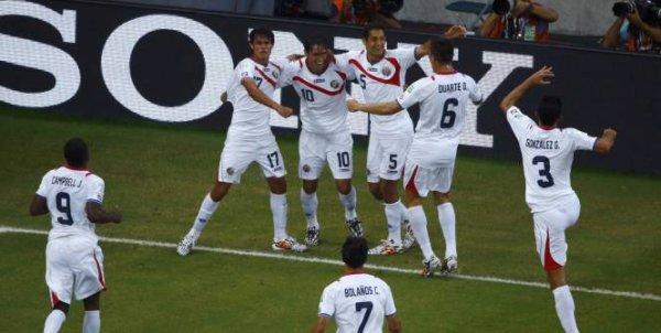 Le Costa Rica en quart de finale !