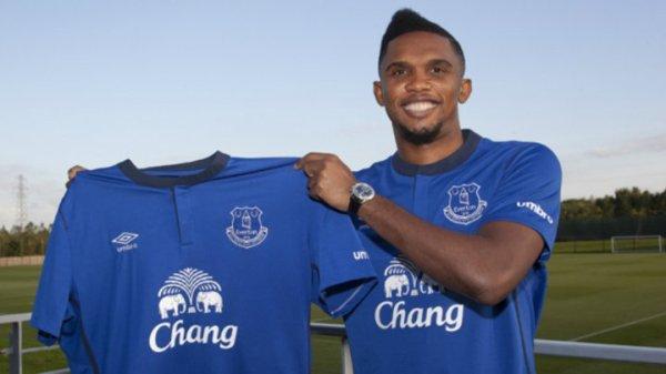 Eto'o: retraite internationale+ transfert � Everton !